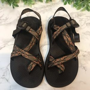 Chaco Z Sandals Brown Cherry Blossom size 9 EUC